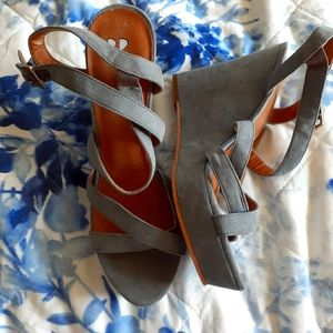 BP dusty blue sandals